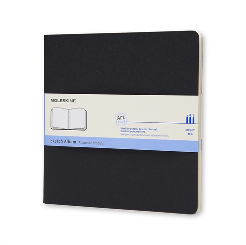 MOLESKINE ART PLUS SKETCH ALBUM - 19X19 BLACK PLAIN