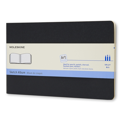 MOLESKINE ART PLUS SKETCH ALBUM - LARGE BLACK PLAIN