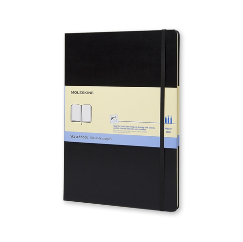 MOLESKINE ART PLUS SKETCHBOOK - A4 BLACK PLAIN