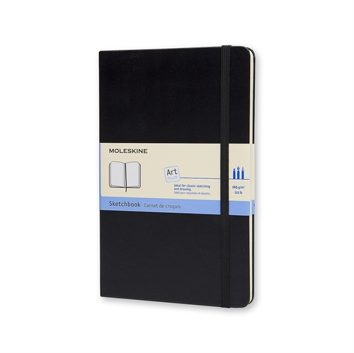 MOLESKINE ART PLUS SKETCHBOOK - LARGE BLACK PLAIN