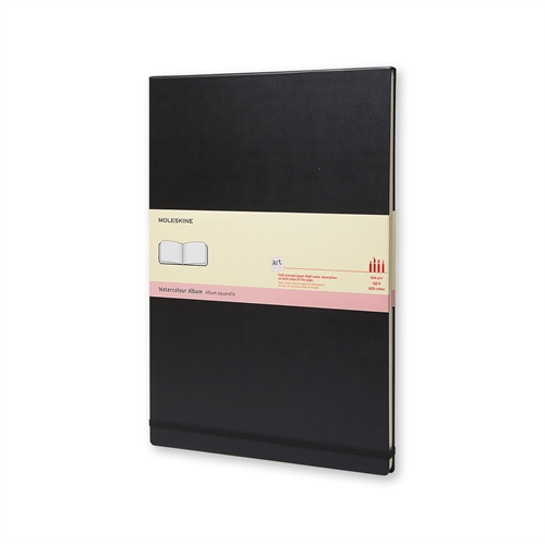 MOLESKINE ART PLUS WATERCOLOUR ALBUM - A3 BLACK PLAIN