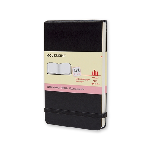 MOLESKINE ART PLUS WATERCOLOUR ALBUM - POCKET BLACK PLAIN