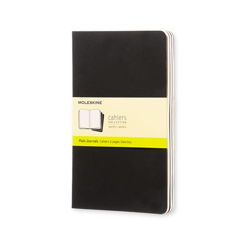 MOLESKINE CAHIERS - LARGE BLACK PLAIN
