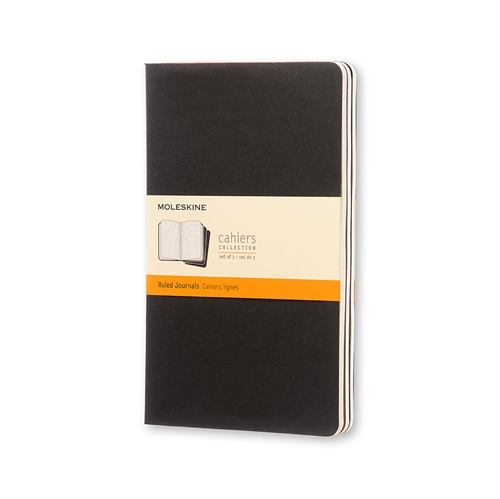 MOLESKINE CAHIERS - LARGE BLACK RULED