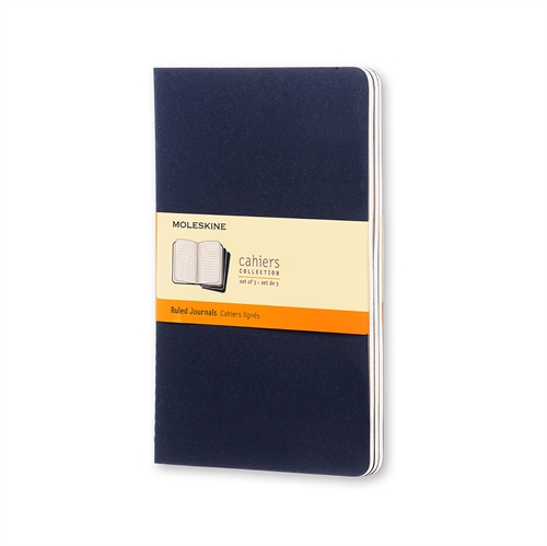 MOLESKINE CAHIERS - LARGE BLUE RULED