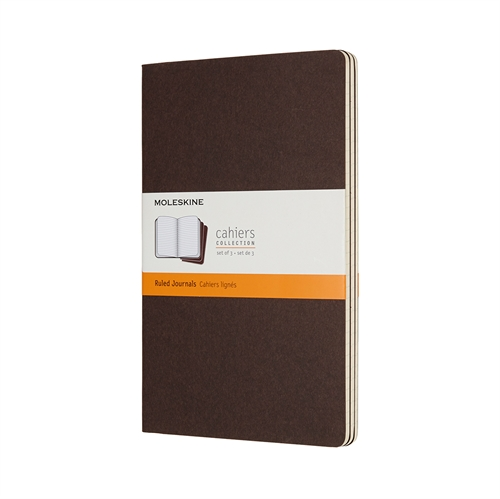MOLESKINE CAHIERS - LARGE BROWN RULED