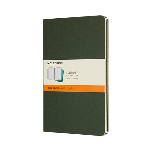 MOLESKINE CAHIERS - LARGE GREEN RULED