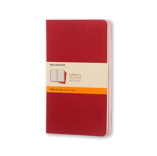 MOLESKINE CAHIERS - XL RED RULED