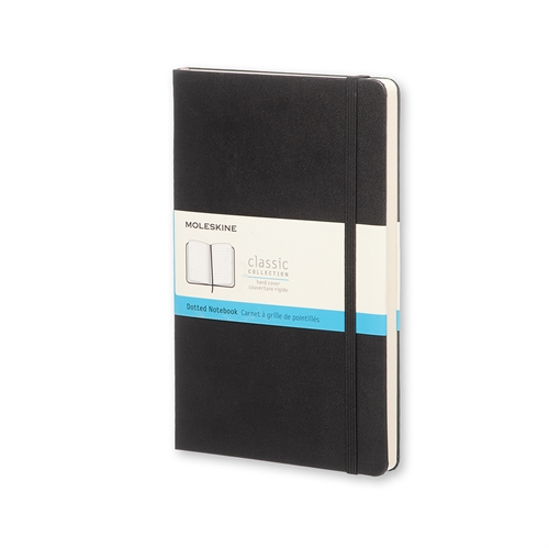 MOLESKINE CLASSIC HARD COVER - LARGE BLACK DOTTED