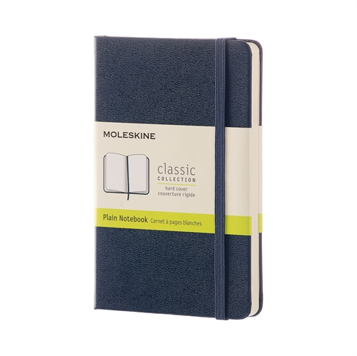 MOLESKINE CLASSIC HARD COVER - POCKET BLUE PLAIN