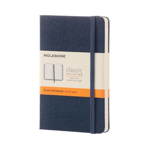 MOLESKINE CLASSIC HARD COVER - POCKET BLUE RULED