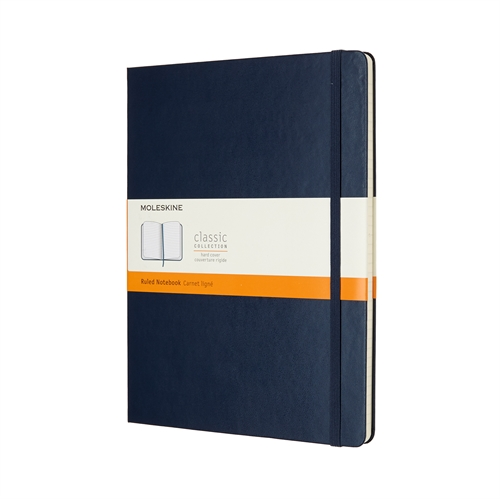 MOLESKINE CLASSIC HARD COVER - XL BLUE RULED