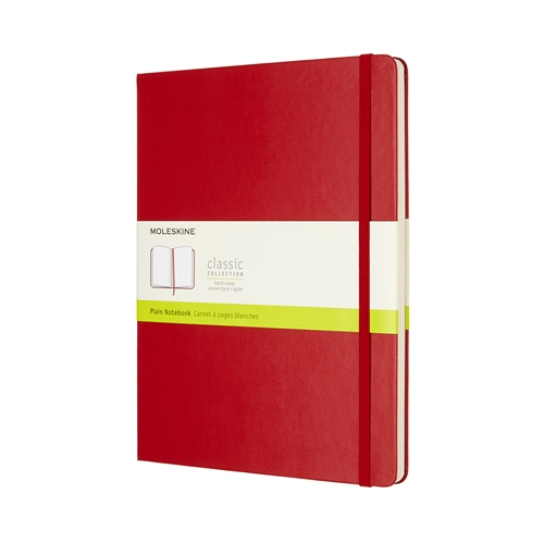 MOLESKINE CLASSIC HARD COVER - XL RED PLAIN