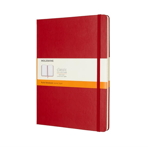 MOLESKINE CLASSIC HARD COVER - XL RED RULED