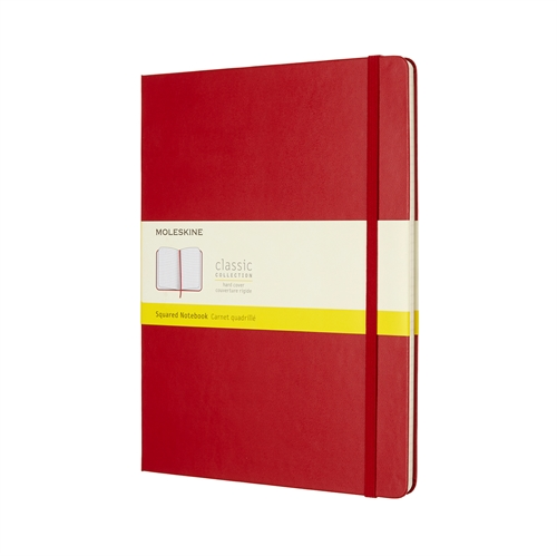 MOLESKINE CLASSIC HARD COVER - XL RED SQUARED
