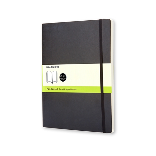 MOLESKINE CLASSIC SOFT COVER - XL BLACK PLAIN