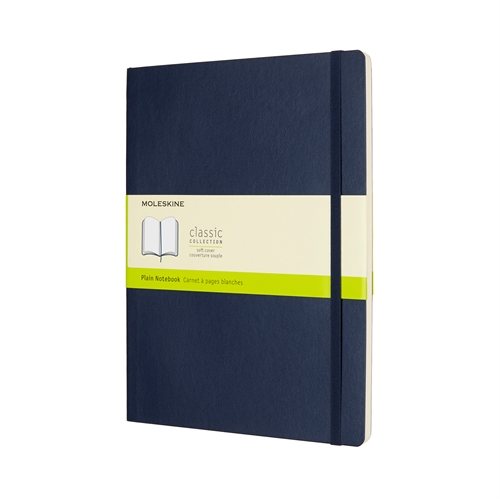 MOLESKINE CLASSIC SOFT COVER - XL BLUE PLAIN