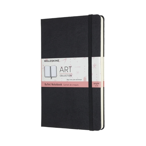MOLESKINE HARD COVER ART COLLECTION BULLET NOTEBOOK - LARGE BLACK DOTTED